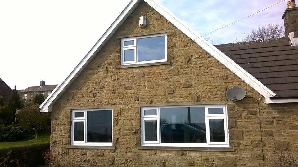 Upvc Front Elevation : Brown upvc windows arched window in cheltenham