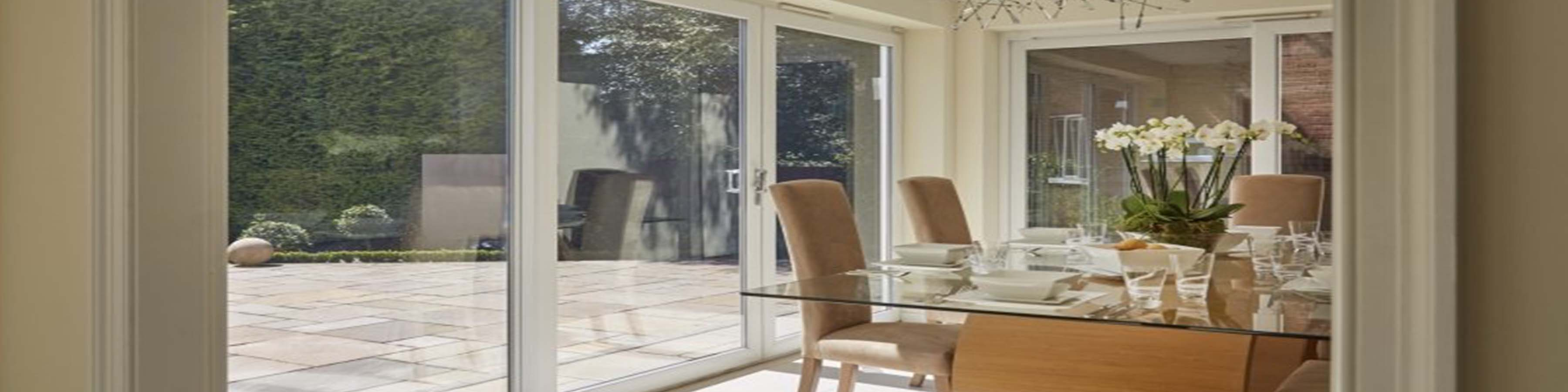 Bradford uPVC Windows in-line sliding Patio Doors are specially designed to provide a luxurious gateway to your garden or conservatory without taking up ... & Patio Doors | Bradford uPVC Windows